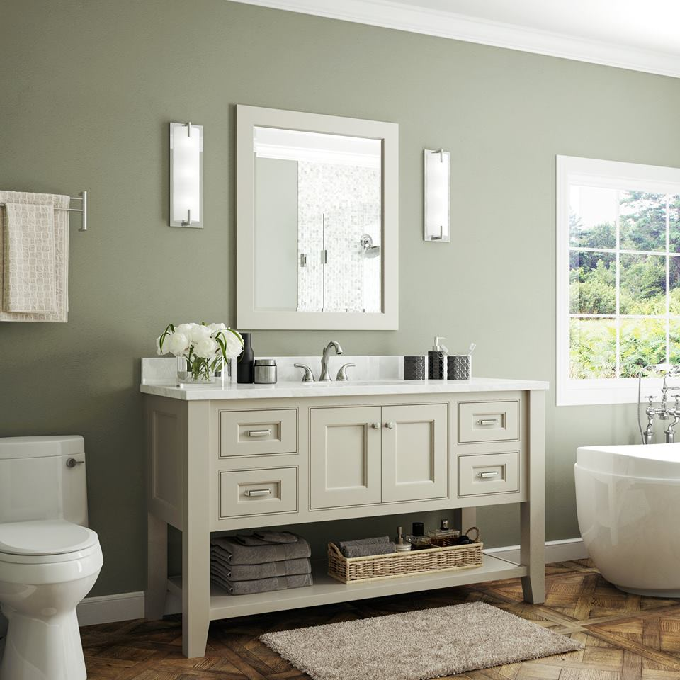 bathroom vantiry cream